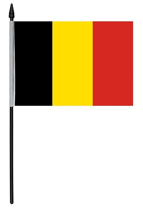 "Belgian Cloth Table Flag - 4"" x 6"""