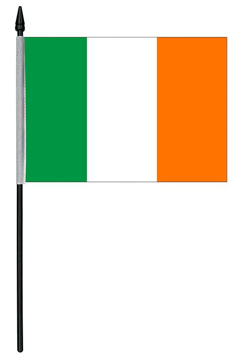 "Irish Cloth Table Flag - 4"" x 6"""