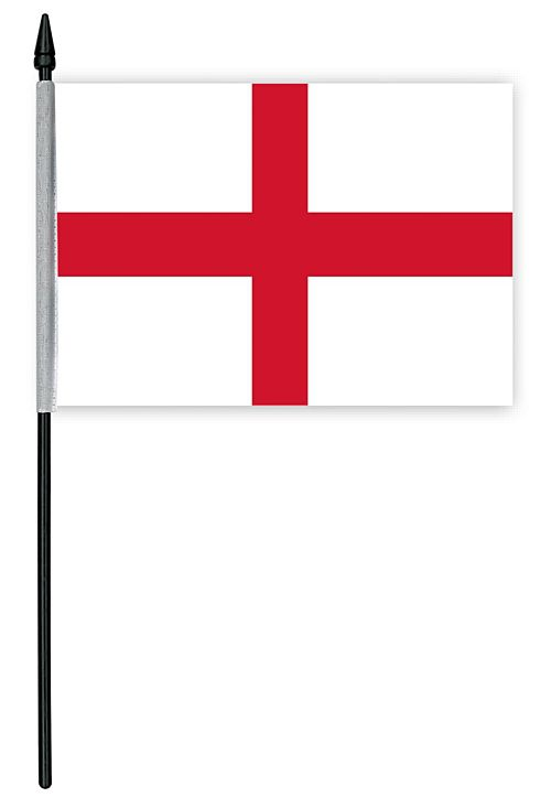"England St George's Cloth Table Flag - 4"" x 6"""
