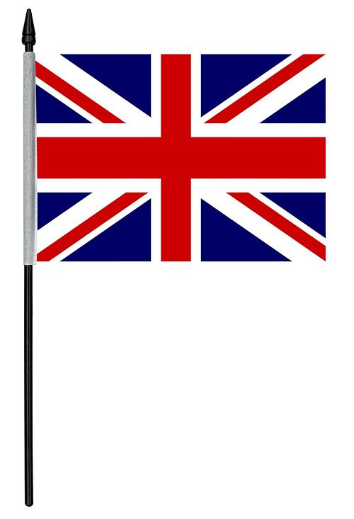 British Union Jack Cloth Table Flag - 10cm x 15cm
