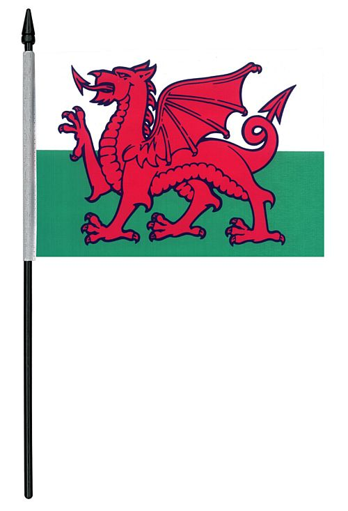 "Welsh Cloth Table Flag - 4"" x 6"""