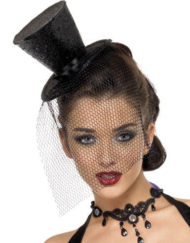 Fever Mini Top Hat- Black