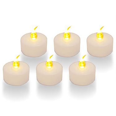 White LED Tea Lights - Pack of 6