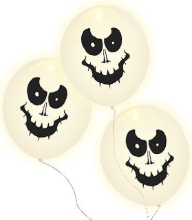 "Ghost Illooms 9"" Pack of 5"