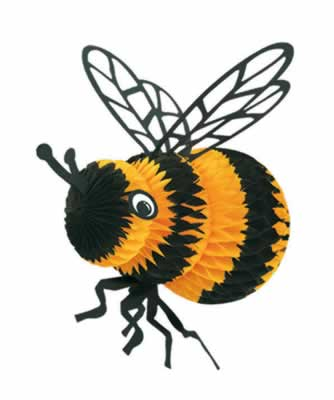 "Bumble Bee - tissue and card - 18"" (46cm)"