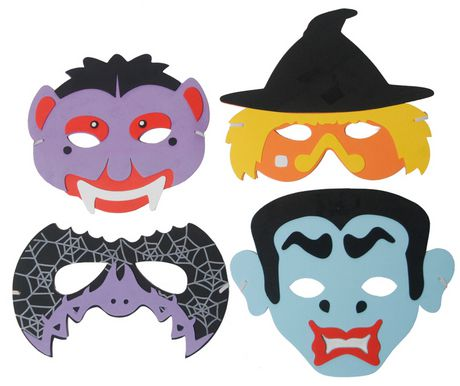 Assorted Halloween Foam Masks - Each