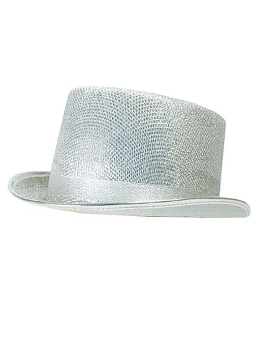 Top Hat- Silver Lurex