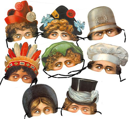 Victorian Mask Assorted - Pack of 8