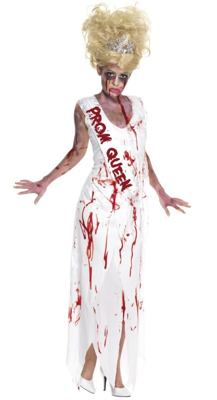 High School Horror Zombie Prom Queen Costume