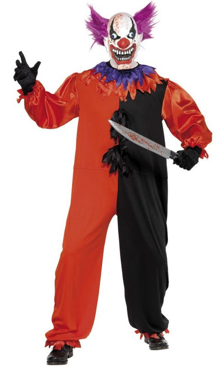 Click to view product details and reviews for Mens Scary Bo Bo The Clown Halloween Costume.