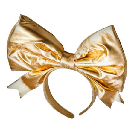 Gold Hairband with Large Bow