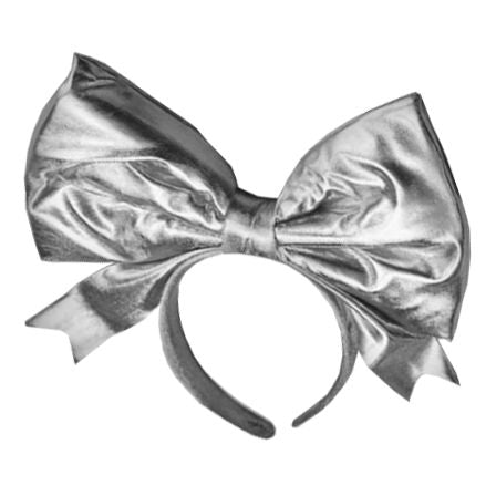 Silver Hairband with Large Bow