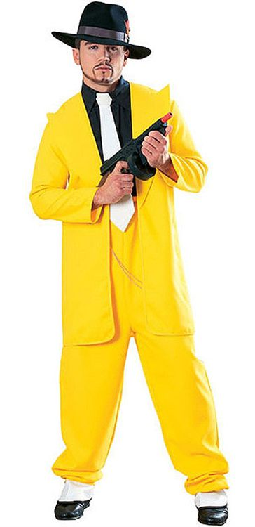Click to view product details and reviews for Gangster In Yellow Suit Lifesize Cardboard Cutout 18m.