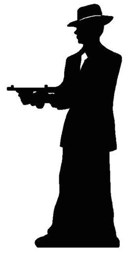 Click to view product details and reviews for Gangster Silhouette Lifesize Cardboard Cutout 185m.