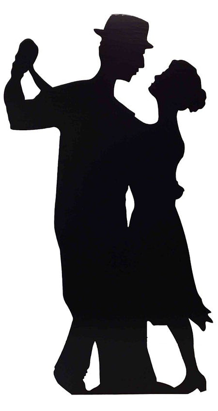Click to view product details and reviews for Salsa Dancers Silhouettes Cardboard Cutout 182m.
