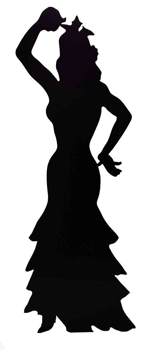 Flamenco Dancer Silhouette Cardboard Cutout - 1.84m
