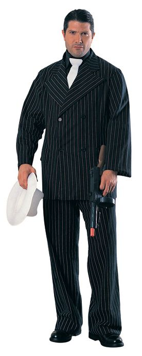 Click to view product details and reviews for Gangster In Black Pinstripe Suit Cardboard Cutout.