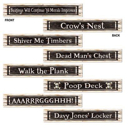 Click to view product details and reviews for Pirate Street Sign Cutouts 61cm.