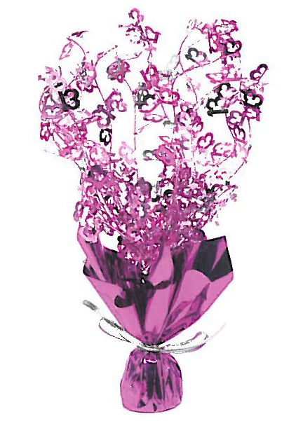 Hot Pink 13th Birthday Foil Spray Centrepiece