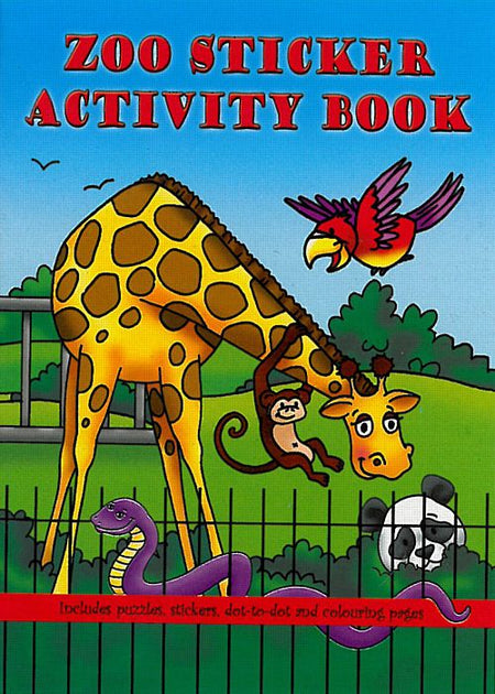 Zoo Sticker Activity Book - 36 Page