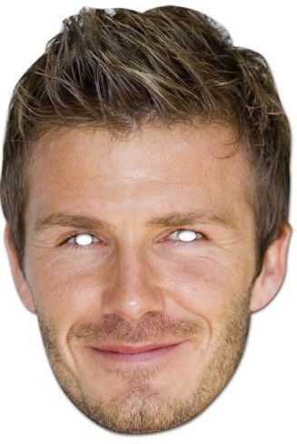 David Beckham Card Mask