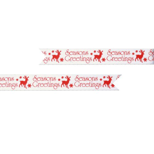 Magical Seasons Greetings Pre Printed Ribbon - 25mm - Per Metre