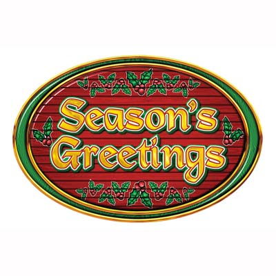 Season's Greetings Card Sign - 45.7cm