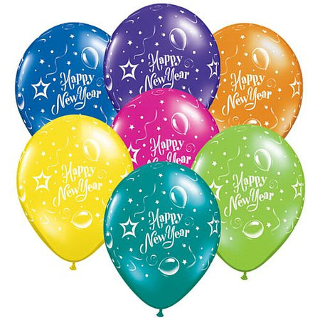 Click to view product details and reviews for New Year Party Qualatex Latex Balloons Assorted Colour 11 Pack Of 10.