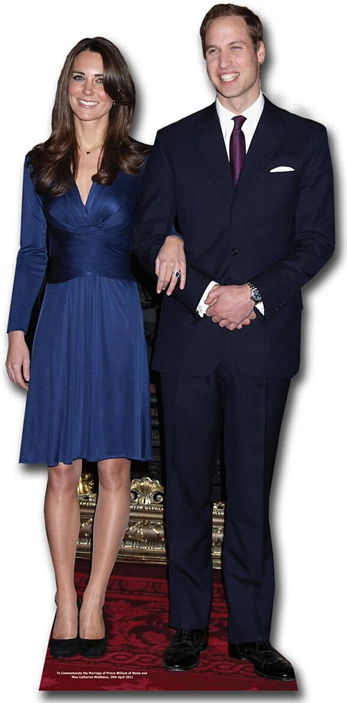 Prince William & Kate Middleton Lifesize Cardboard Cutout - 1.82m
