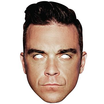 Robbie Williams Card Mask