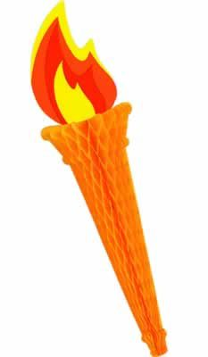 Olympic Torch Tissue Decoration - 61cm
