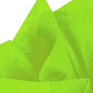 Lime Green Tissue Sheets - Pack of 10