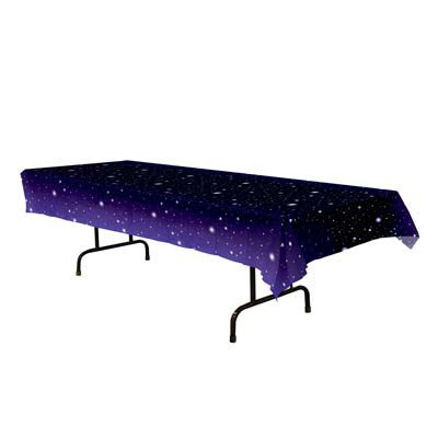 Starry Night Plastic Tablecloth - 2.74m