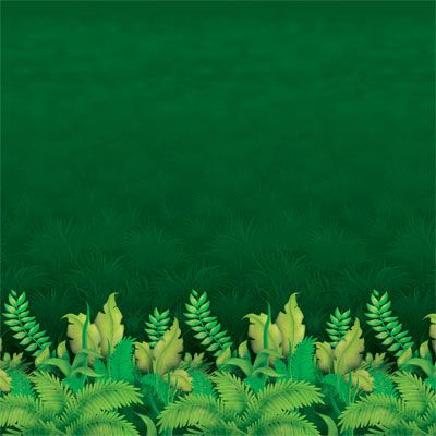 Jungle Foliage Backdrop - 4' x 30'