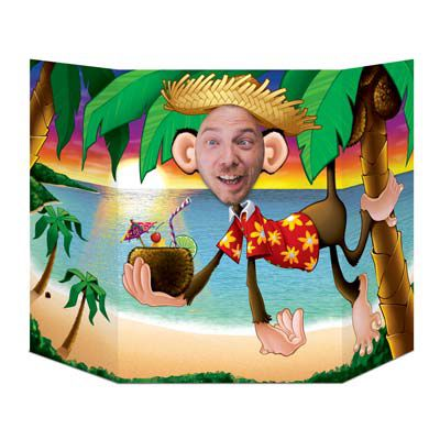 Luau Monkey Stand-In Photo Prop - 94cm