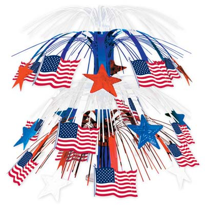 American Flag Cascade Table Centrepiece - 46cm