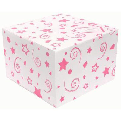 Click to view product details and reviews for Balloon Box Pink Stars And Swirls 37cm.