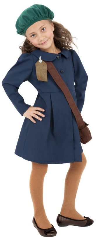 World War II Evacuee Girl