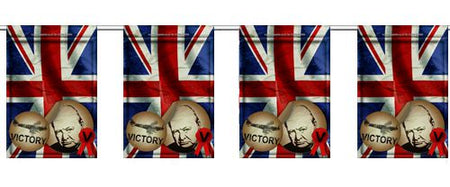 War Time Small Flag Interior Bunting - 2.4m