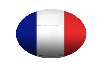 Mini French Rugby Ball Decoration - A5 Size