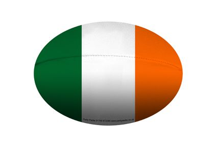 Mini Irish Rugby Ball Decoration - A5 Size