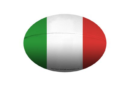 Mini Italian Rugby Ball Decoration - A5 Size