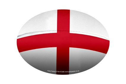 Mini St George Rugby Ball Decoration - A5 Size