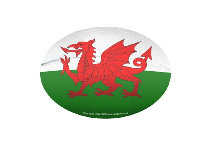 Mini Welsh Rugby Ball Decoration - A5 Size