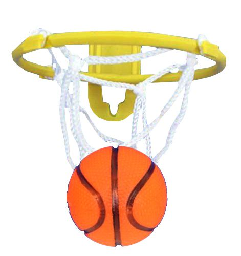 Basketball and Hoop - 8cm