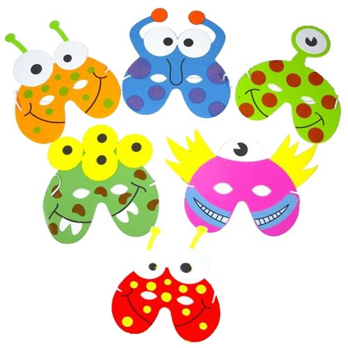 Assorted Alien Monster Foam Masks - Each