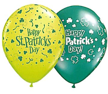Click to view product details and reviews for St Patricks Day Assorted Green Latex Balloons 11 Pack Of 10.