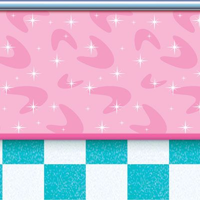 50's Soda Shop Backdrop - 9.14m