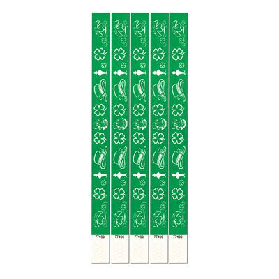 St Patrick's Tyvek Wristbands - Pack of 100