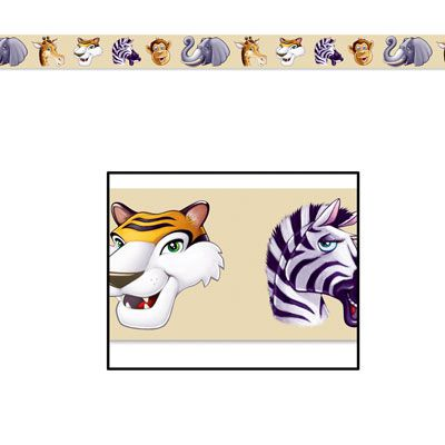Jungle Animals Party Tape - 6.1m